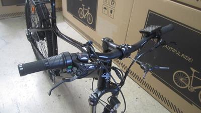 10. Install the handlebars, tighten only snugly, you will make final adjustments after.